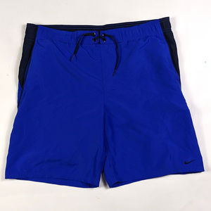 Nike Swim Trunks Mens Size Small Blue Drawstring